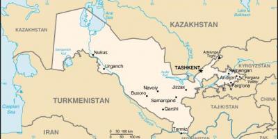 Uzbekistanin Kartta Kartat Uzbekistan Keski Aasia Aasia